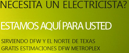 Raul Electric serves the entire Dallas / Fort Worth Metroplex as well as most areas in North Texas. We provide free estimates in the DFW Metroplex. We offer quality, dependable service in all areas of electrical needs. Please call us today at 972-679-1063 to schedule your free estimate (DFW metroplex). Electrical services include Trouble shooting (circuit shooting), Service calls, Lighting problems or addition of new lighting, Installation of new fixtures or ceiling fans, Service upgrades, Wiring new homes or remodeling existing homes, Residential or Commercial, Landscape lighting, Rewire of burn out homes, Addition of circuits, Addition of phone lines and cable lines.